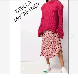 ステラマッカートニー(Stella McCartney)のステラマッカートニー☆フローラル ミディ シルク スカート(ロングスカート)