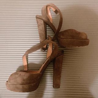 ラルフローレン(Ralph Lauren)のRalph lauren ラルフローレン 靴 スウェード ストラップ サンダル(ハイヒール/パンプス)