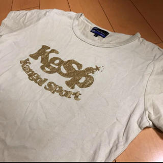 カンゴール(KANGOL)のカンゴールアイボリーキンラメロゴコットンT(Tシャツ(半袖/袖なし))