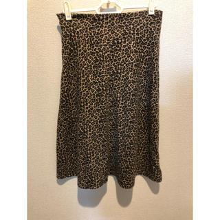 エモダ(EMODA)のレオパードスカート(ひざ丈スカート)