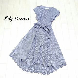 Lily Brown - Lily Brown  スカラップワンピース