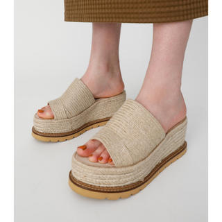 moussy - moussy / JUTE SOLE WEDGE ミュール