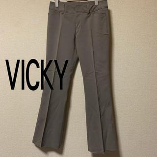 ビッキー(VICKY)の【美品】VICKY ストレッチフレアカットチノスラックス(チノパン)