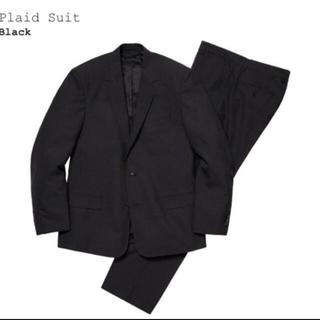 シュプリーム(Supreme)のsupreme plaid suit シュプリーム スーツ 黒 S 30(セットアップ)