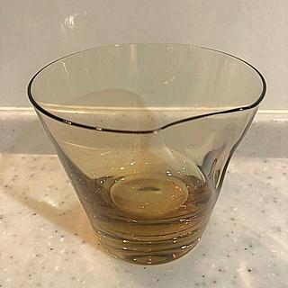スガハラ(Sghr)のスガハラ オールドグラス ペコ タン グラス ガラス コップ くぼみ 手作り(グラス/カップ)