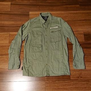 バックチャンネル(Back Channel)の一回着 バックチャンネル シャツ 麻混 サファリシャツ 袖折り返しボタン付き(シャツ)