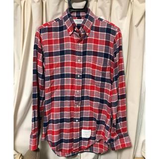 トムブラウン(THOM BROWNE)のトムブラウン チェック シャツ ブラックフリース ガムブルー ラルフローレン(シャツ)