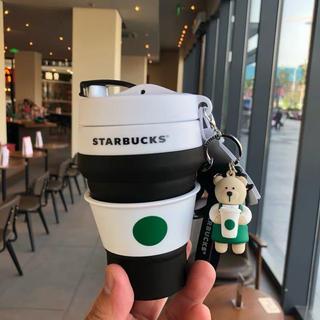 Starbucks Coffee - 海外 中国 スターバックス コンパクトカップ&ベアリスタキーホルダー