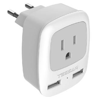 TESSAN  USBポート ヨーロッパEUスペインアイスランドイタリア(タ(変圧器/アダプター)