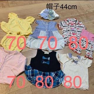 ニシマツヤ(西松屋)のbaby女の子 セットアップ夏服セット(その他)