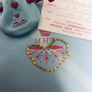 ドゥロワー(Drawer)の超美品 マリーエレーヌ ハートモチーフ ブレスレット 22K(ブレスレット/バングル)