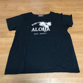 チュチュアンナ(tutuanna)のチュチュアンナ♡tutuanna♡アロハ♡ALOHA♡ブラック♡黒Tシャツ(Tシャツ(半袖/袖なし))