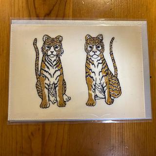 アッシュペーフランス(H.P.FRANCE)のコーラルアンドタスク 刺繍カード TIGER(写真/ポストカード)