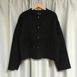 UNUSED - UNUSED 18ss ノーカラースウェードジャケット