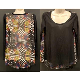 ジェイダ(GYDA)のGYDA ジェイダ BACK FLOWER ロングスリーブTシャツ シフォン(Tシャツ(長袖/七分))