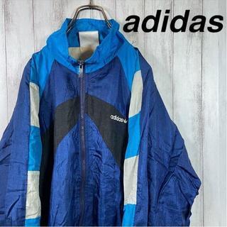 アディダス(adidas)の【激レア】 90s アディダス ビッグサイズ ナイロンジャケット マルチカラー(ナイロンジャケット)