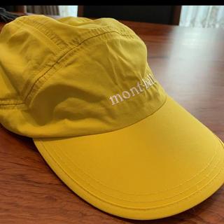 モンベル(mont bell)のMont-bell キャップ 帽子 イエロー 撥水 日除け マスタード キッズ (帽子)