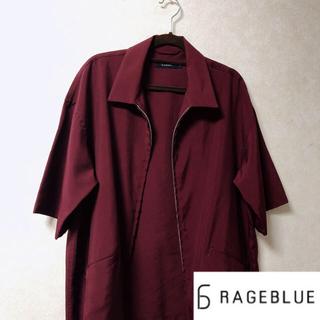 RAGEBLUE - RAGEBLUE レイジブルー 赤 えんじ シャツ 半袖 アウター