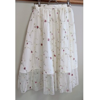 INGNI - 花柄チュールスカート ロングスカート