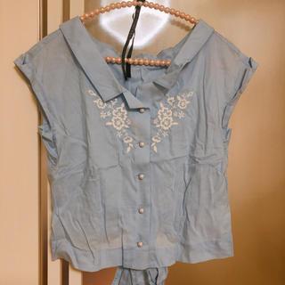 ウィルセレクション(WILLSELECTION)のウィルセレクション 水色 ブラウス M 夏物(シャツ/ブラウス(半袖/袖なし))