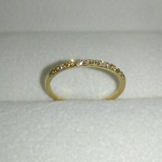 アーカー(AHKAH)のAHKAHドゥーズブリエ K18 ハーフエタニティ ダイヤ0.12ct 9号(リング(指輪))