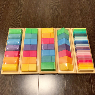 BorneLund - グリムス シェイプ&カラー 積み木5種セット