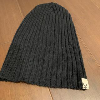 ロンハーマン(Ron Herman)の男女兼用❤️ロンハーマン・ニット帽(黒)(ニット帽/ビーニー)