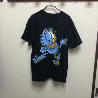 アンビル(Anvil)の良品 90s USA製 GARFIELD ガーフィールド プリント Tシャツ M(Tシャツ/カットソー(半袖/袖なし))