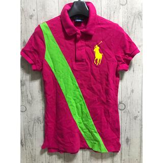 ラルフローレン(Ralph Lauren)のラルフローレン ビッグポニー ピンク ポロシャツ XS レディース(ポロシャツ)