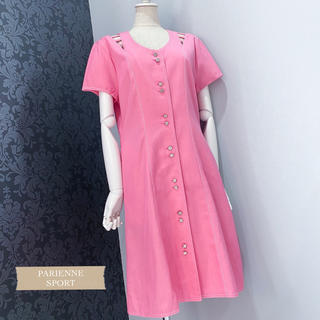 日本製 ◆ ピンク カットアウト レトロ ヴィンテージワンピース(ひざ丈ワンピース)