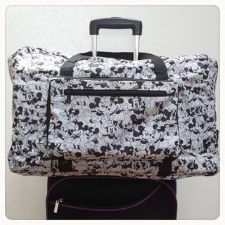 オールドミッキー&ミニー ボストンバッグ 旅行バッグ キャリーバッグ(マザーズバッグ)