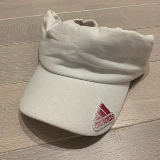 アディダス(adidas)の男女どちらでも♡【adidas♡アディダス】サンバイザー♡ホワイト♡(サンバイザー)