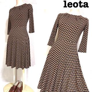 EPOCA - USA製 レオタ チェック柄 ワンピース マットジャージ生地 ドレス