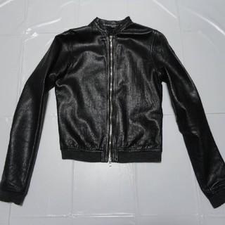 エディション(Edition)の高級 美品◆エディション 女性レディース 羊革レザージャケット 黒M◆ライダース(ライダースジャケット)