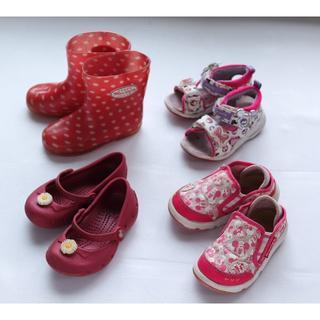 ディズニー(Disney)の子供靴まとめ売り②4足14センチ 長靴15センチ ディズニーサンダル クロックス(サンダル)