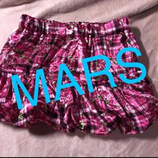 マーズ(MA*RS)のショートパンツ キュロット スカート ピンク チェック MARS マーズ(ミニスカート)