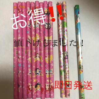 ディズニー(Disney)の2B ディズニープリンセス、ティンカーベル、たまごっち 鉛筆セット(鉛筆)