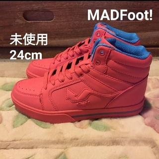 マッドフット(MAD FOOT)のハイカット MadFoot ハイカット スニーカー ピンク ブルー ブルー(スニーカー)