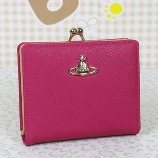 ヴィヴィアンウエストウッド(Vivienne Westwood)のヴィヴィアンウエストウッド 折財布 がま口財布 ピーチ(財布)
