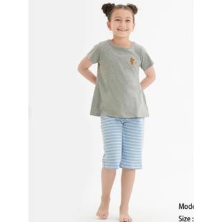ジーユー(GU)の匿名発送 新品 GU くまのがっこう ラウンジセット 女の子 パジャマ 110(パジャマ)