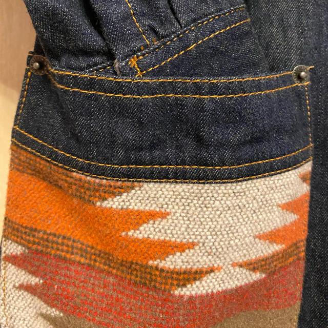 titicaca(チチカカ)の新品 チチカカ デニムジャケット コート エスニック アウター デニムロング レディースのジャケット/アウター(Gジャン/デニムジャケット)の商品写真