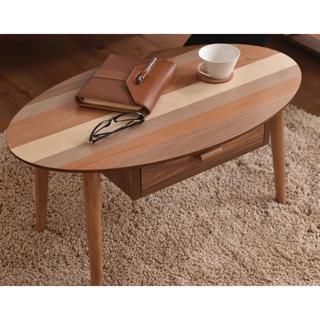 【送料無料】Oval / Nordic Low Drawer Table(ローテーブル)