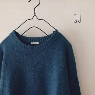 ジーユー(GU)のGU ◎ ラムブレンドクルーネックセーター(ニット/セーター)