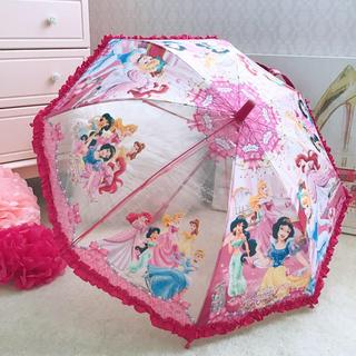 ディズニー(Disney)のディズニープリンセス 傘 濃いピンク(傘)