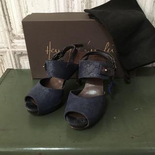 エンリーべグリン(HENRY BEGUELIN)のイタリア製 HENRY BEGUELIN ヒールサンダル USED(サンダル)