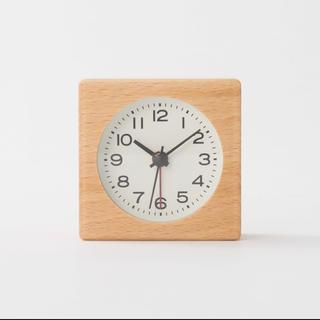 ムジルシリョウヒン(MUJI (無印良品))の新品★無印良品★ ブナ材時計(アラーム機能付)MJ‐BC1 木目調 寝室 限定♩(置時計)