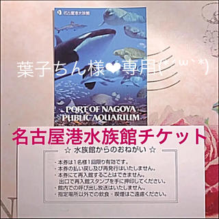 葉子ちん様❤︎専用 名古屋港水族館チケット 2枚(*´꒳`*)(水族館)