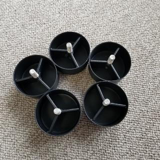 ムジルシリョウヒン(MUJI (無印良品))の無印良品 スタッキングキャビネット 脚のみ 5個(リビング収納)