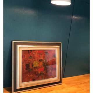 マリメッコ(marimekko)の赤いモチーフの絵 k.murata(絵画/タペストリー)