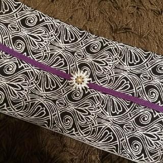 モノトーン 半幅帯 長尺 小袋帯 アールデコ